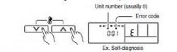 Нажмите кнопки установки температуры в течение 5 секунд или больше, чтобы начать самодиагностику.
