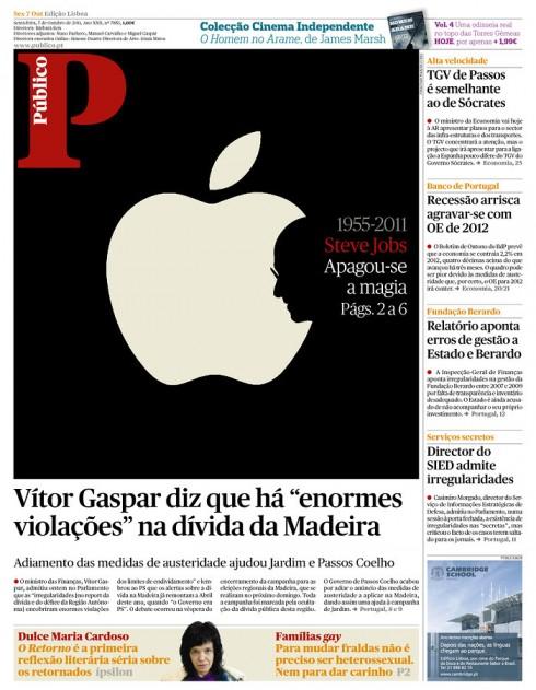 Впервые услышали о смерти Стива Джобса Вечером в среду, 5 октября, в Apple, устройство - для меня