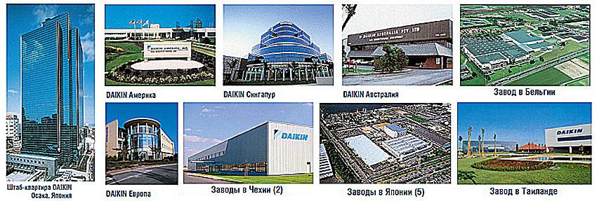 Заводы изготовители продукции Daikin.