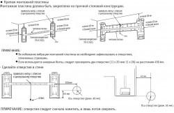 установка внутреннего блока сплит системы, монтажные размеры пластины крепления, разметка отверстий для сверления.