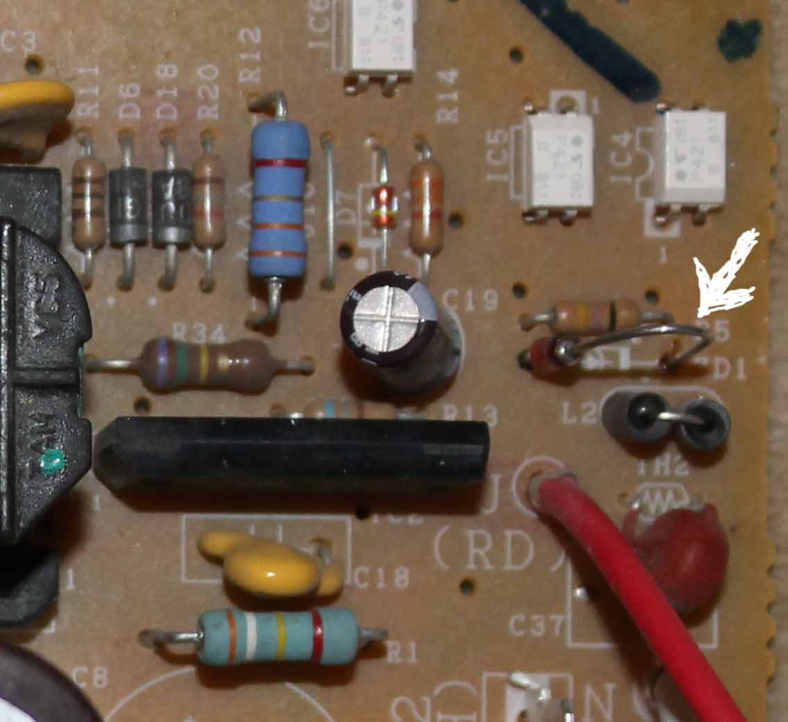 Pay repair, check and stabilizer diode replacement