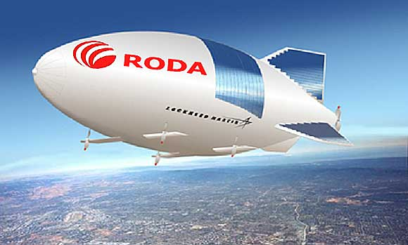 The company roda arranged show with airship participation.